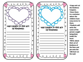 100 Acts of Kindness Challenge and Craftivity Perfect for Valentine's Day