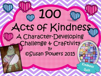 100 Acts of Kindness Challenge and Craftivity Perfect for