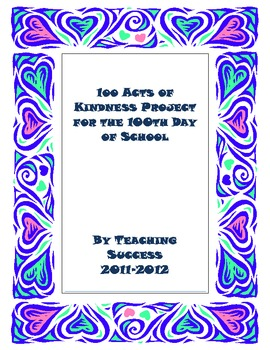 100 Acts of Kindness for the 100th Day of School