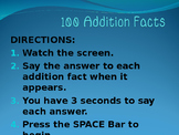 100 Addition Facts Powerpoint