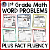 First Grade Math Bundle including 100 Word Problems, Fact Fluency and More