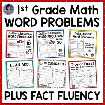 100 Addition & Subtraction Word Problems ~ Includes Bonus