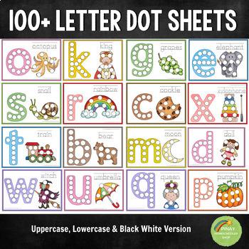 100+ Alphabet Letter Dot Activity Sheets