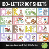 100+ Alphabet Letter Dot Activity Sheets