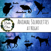 100 Animals - Night Sky Silhouette