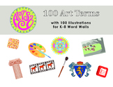 Art Word Walls - 100 Art Terms with illustrations