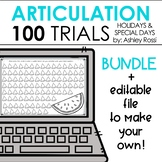 100 Trials for Articulation & Apraxia - EDITABLE