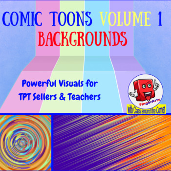 100 BACKGROUNDS BY COMIC TOONS VOLUME 1 for TPT Sellers