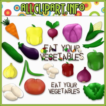 $1.00 BARGAIN BIN - Eat Your Vegetables Clip Art
