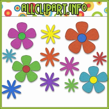 $1.00 BARGAIN BIN - Funky Flowers Clip Art