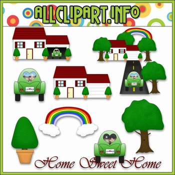 $1.00 BARGAIN BIN - Home Sweet Home Clip Art