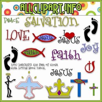 $1.00 BARGAIN BIN - Jesus Saves Clip Art