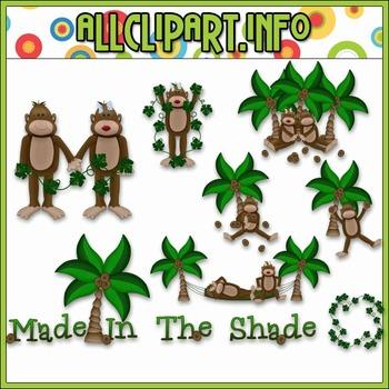 $1.00 BARGAIN BIN - Made In The Shade Monkeys Clip Art