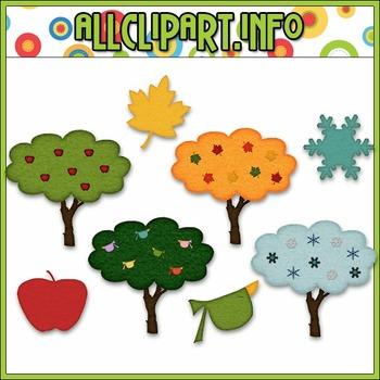 $1.00 BARGAIN BIN - Season Trees Clip Art