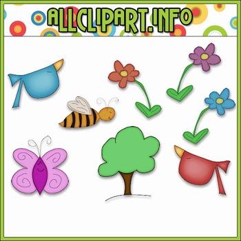 $1.00 BARGAIN BIN - Spring Doodles Clip Art