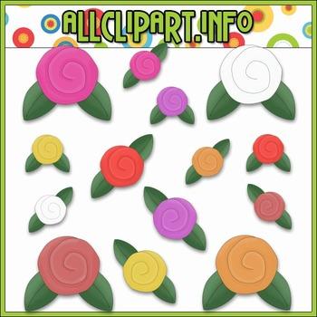$1.00 BARGAIN BIN - Whimsical Flowers Clip Art
