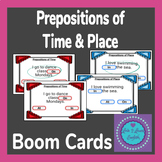 100 BOOM Cards Prepositions of Time & Place