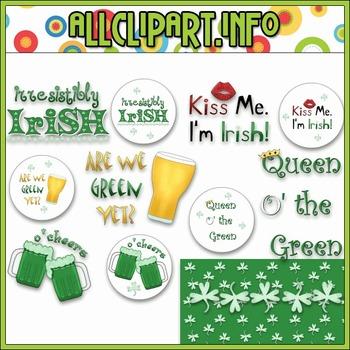 $1.00 BARGAIN BIN - Irresistibly Irish Clip Art