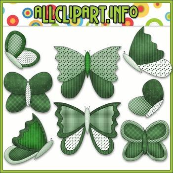 $1.00 BARGAIN BIN - St. Patrick's Butterflies Clip Art