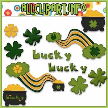 $1.00 BARGAIN BIN - St. Patrick's Day Feltements Clip Art