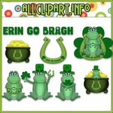 $1.00 BARGAIN BIN - St Patty's Frogs Clip Art
