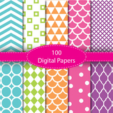 Digital Papers - Background Papers 100 #summerwishes