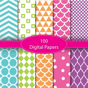 100 Basic Digital Papers Set 1