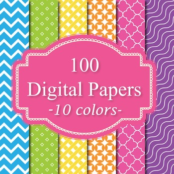Digital Papers - Background Papers 100 Set 2