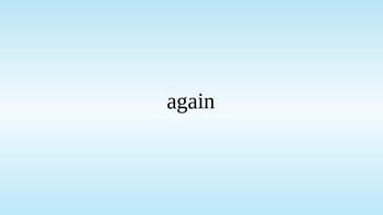 100 Basic Sight Words