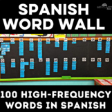 Classroom Decor: 100 Basic Words for Spanish Class Word Wall