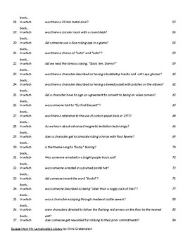 100 Battle of the Books Questions from Escape from Mr. Lemoncello's Library