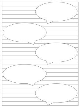 100 Blank Journal Pages for any Subject! Grades 1-5