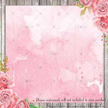 100 Bleeding Watercolor Texture Digital Papers