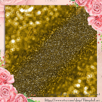 100 Bokeh Glitter Digital Papers in 100 Different Colors