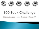 100 Book Challenge AA Presentation (Spanish)