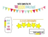 100 Book Challenge / Reading Challenge Completion Certificate {1ovakyndTeacher}