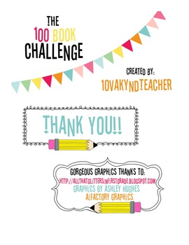 100 Book Challenge !!!! Reading Challenge{1ovakyndTeacher}
