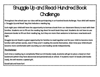 100 Book Challenge Reading Log