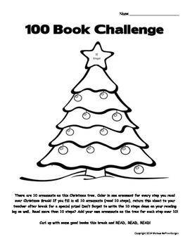 100 Book Challenge Winter Break Incentive