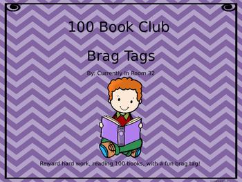100 Book Club Brag Tag