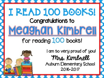 100 Book Club Reading Program