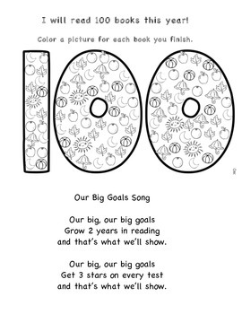 100 Book Reading Tracker and Song
