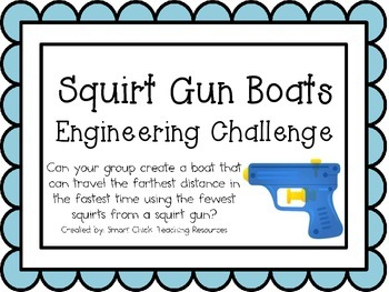 Squirt Gun Boats: Engineering Challenge Project ~ Great STEM Activity!