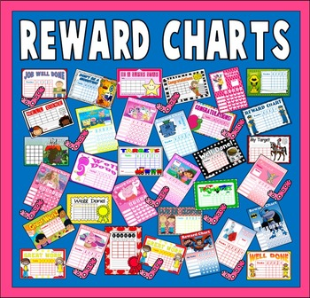 100 CHILDREN'S REWARD CHARTS TEACHING RESOURCES EYFS KS1 KS2 BEHAVIOUR TARGET
