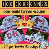 100 COURONNES pour célébrer et féliciter le comportement et le travail