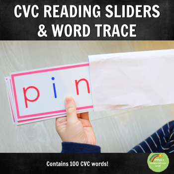 100 CVC Word Sliders and Tracing Cards