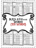 100 CVC+++ Words Worksheets - Build a word! (List of words