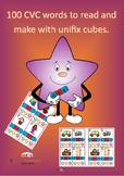 100 CVC words to read and make with unifix cubes.