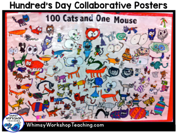 100 Cats and 1 Mouse Collaborative Poster Kit FREE Whimsy