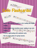 60 Cello Flashcards - FULL COLOR!!!